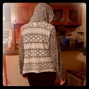 Lace gray and white cardigan